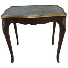 19th Century LouisXV Style Marble-Top Side Table