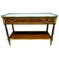 19th Century Mahogany and Gilded Bronze Louis XVI Style Console