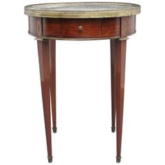 19th Century Mahogany and Marble-Top Occasional Table