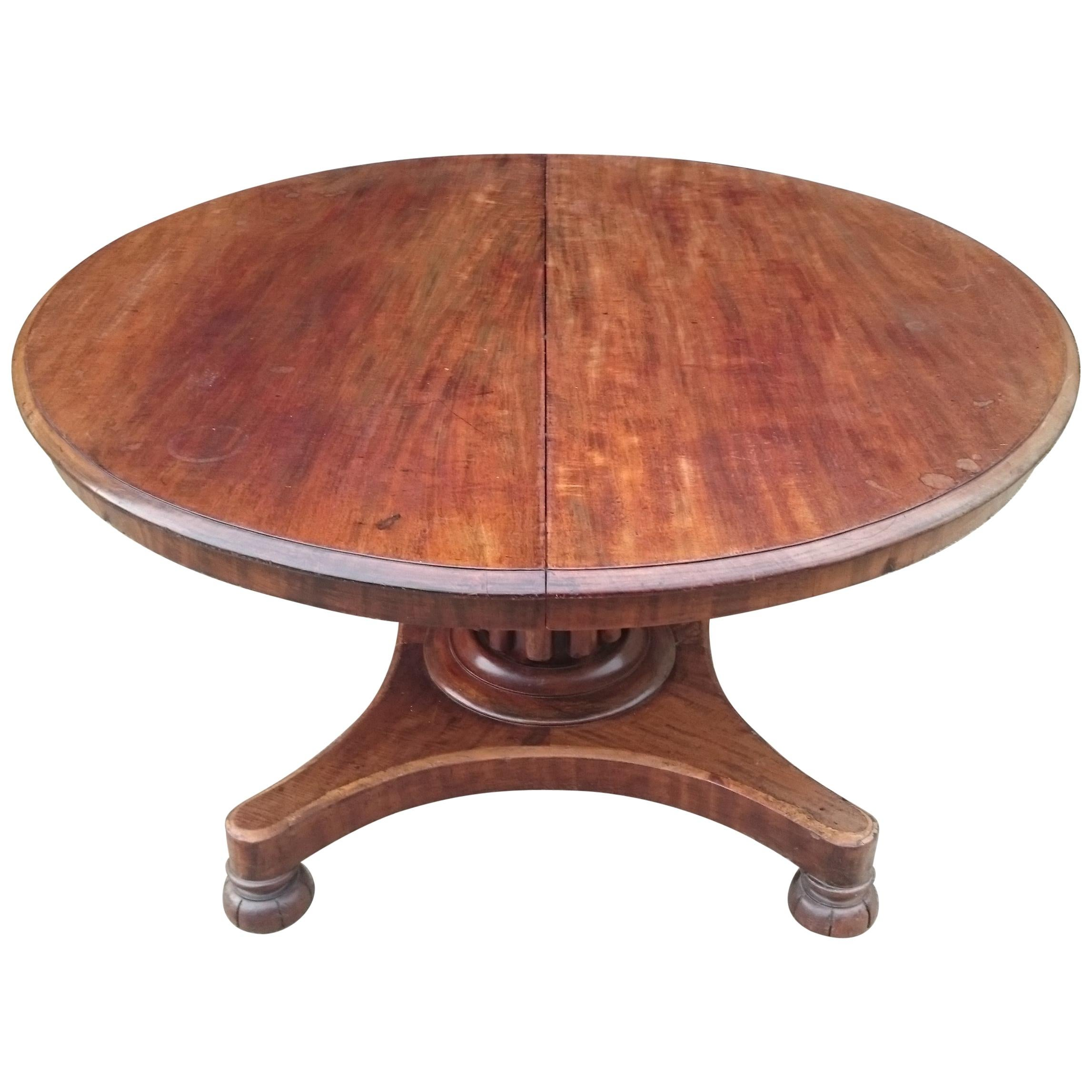 19th Century Mahogany Antique Extending Breakfast Dining Table