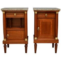 19th Century Mahogany Bedside Cabinets