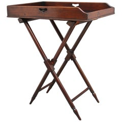 19th Century Mahogany Butlers Tray on Stand