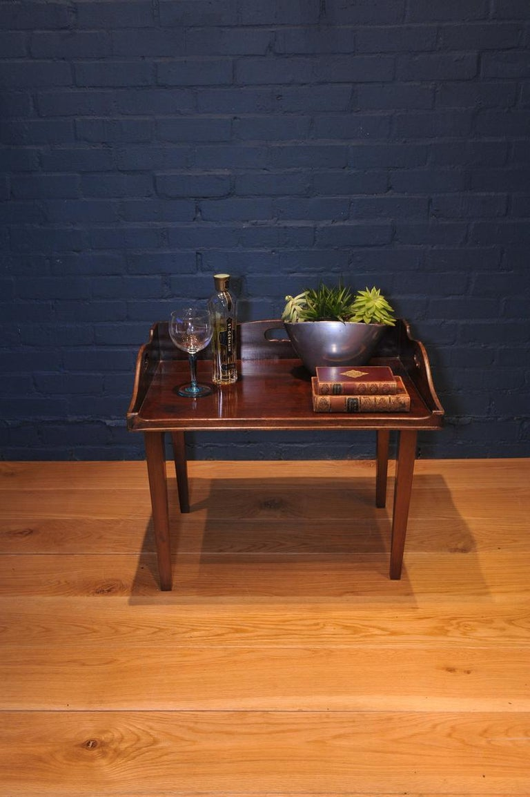 19th Century Mahogany Campaign Butlers Tray with Folding Lock-In Legs For Sale 1