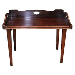 19th Century Mahogany Campaign Butlers Tray with Folding Lock-In Legs