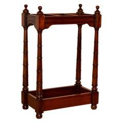 19th Century Mahogany Cane Stand