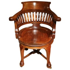 19th Century Mahogany Captain's Chair