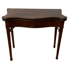 19th Century Mahogany Console Flip Top Games Table
