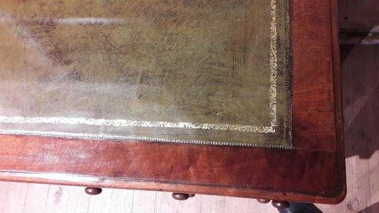 Late Victorian 19th Century Mahogany Desk For Sale