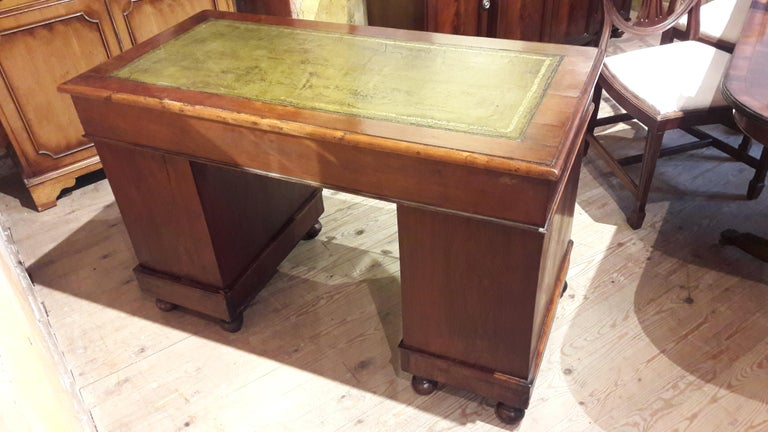 Leather 19th Century Mahogany Desk For Sale