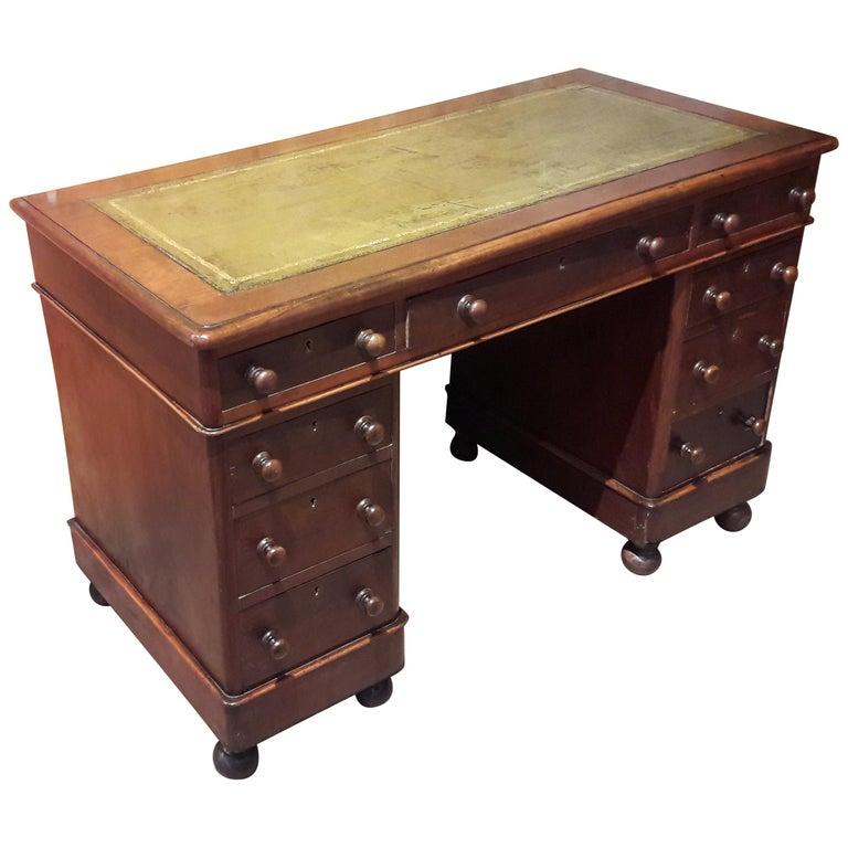 19th Century Mahogany Desk For Sale
