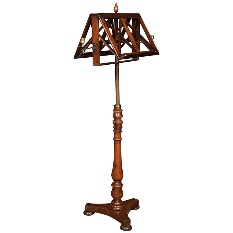 19th century mahogany duet music stand for sale at 1stdibs. Black Bedroom Furniture Sets. Home Design Ideas