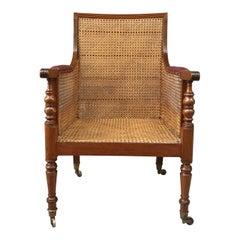 19th Century Mahogany English Regency Library Chair