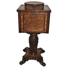 19th Century Mahogany English Regency Wine Cooler / Cellarette