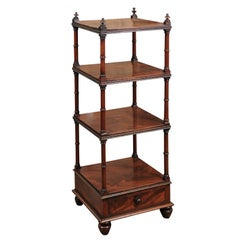 19th Century Mahogany Etagere with 4 Tiers