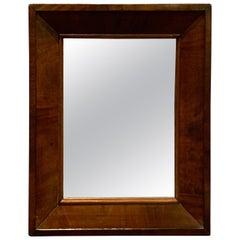 19th Century Mahogany Frame Mirror, France