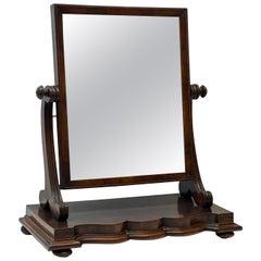 19th Century Mahogany Framed Table Top Tilt Mirror C1880