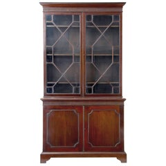 19th Century Mahogany Glazed Bookcase