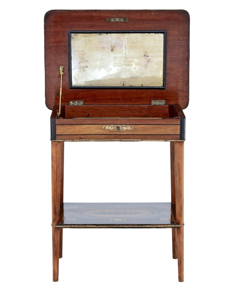 19th Century Mahogany Inlaid Ladies Work Table For Sale 1