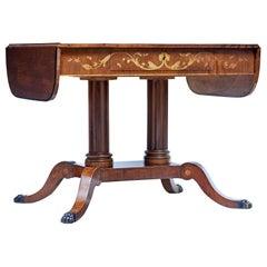 19th Century Mahogany Inlaid Sofa Table