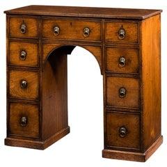 19th Century Mahogany Kneehole Desk