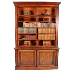 19th Century Mahogany Library Bookcase