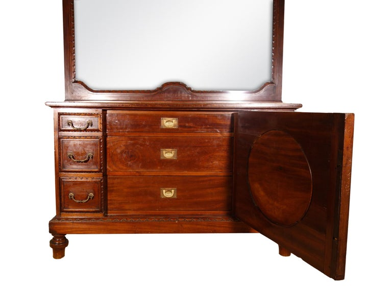 19th Century Mahogany & Marquetry Dresser with Medallion of Giovanni Maffezzoli For Sale 9