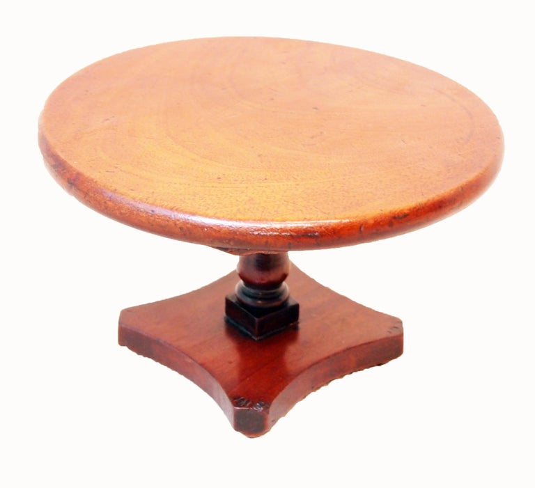 English 19th Century Mahogany Miniature Centre Table For Sale