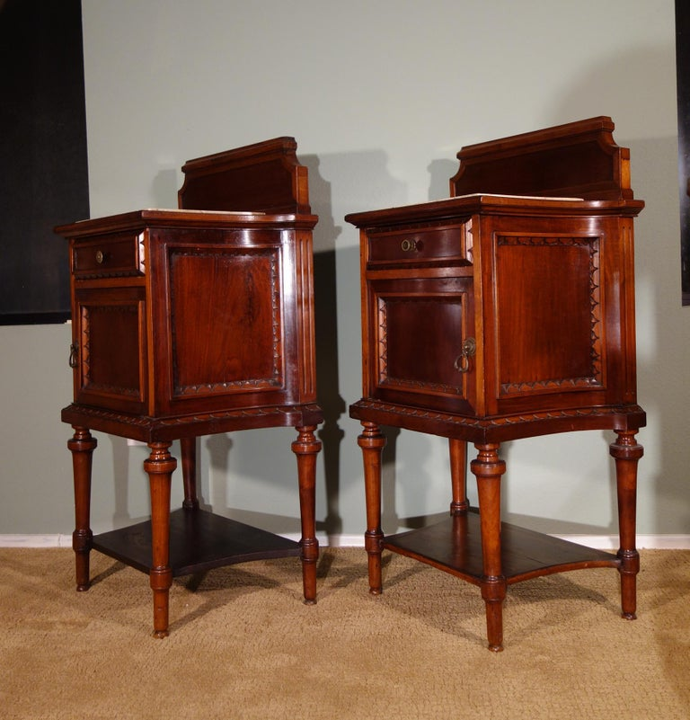 Pair of 19th Century Mahogany Nightstand For Sale 7