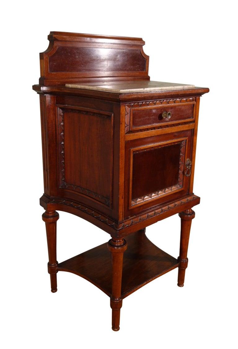 Italian Pair of 19th Century Mahogany Nightstand For Sale