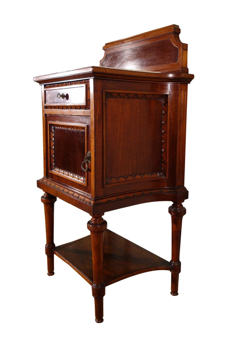 Cast Pair of 19th Century Mahogany Nightstand For Sale