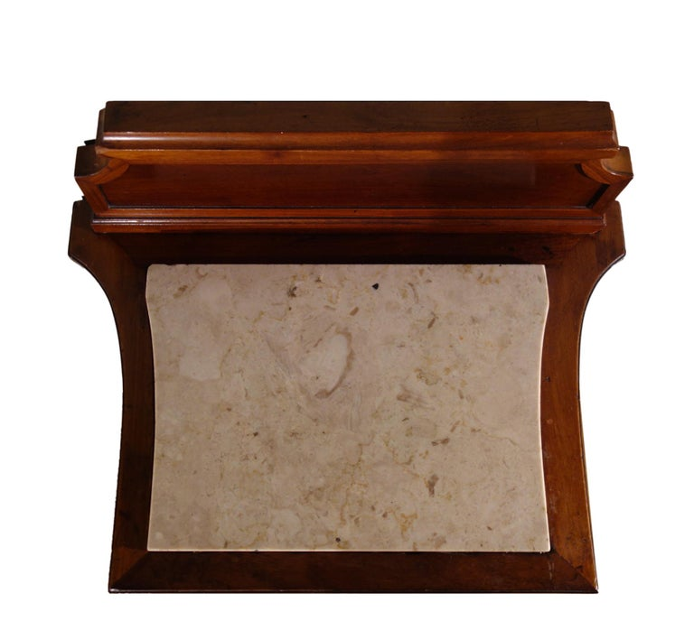 Marble Pair of 19th Century Mahogany Nightstand For Sale