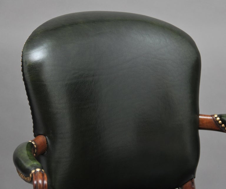 19th Century Mahogany Open Armchair For Sale 5