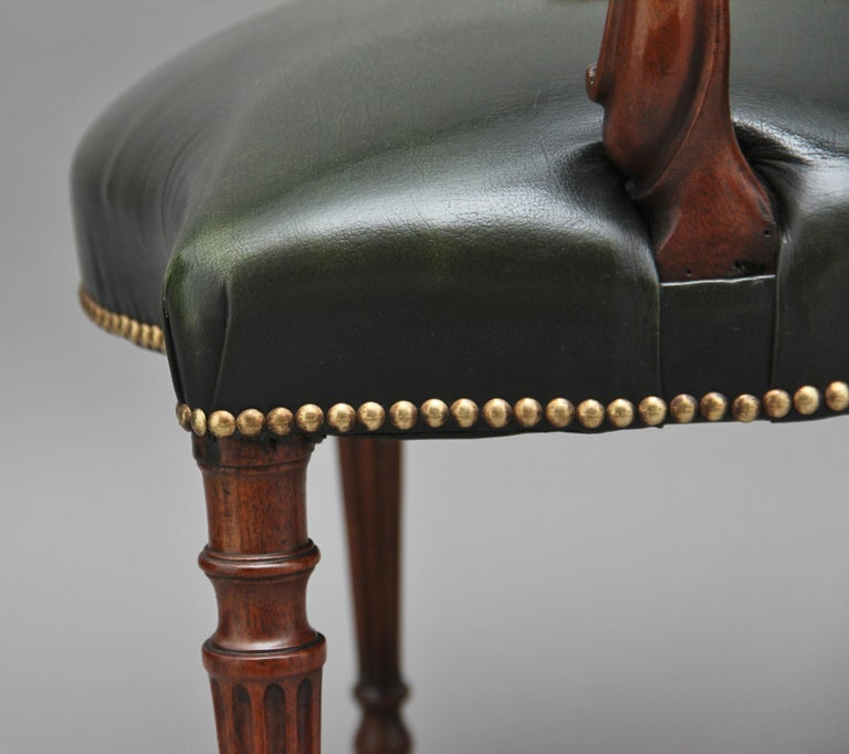 19th Century Mahogany Open Armchair For Sale 2