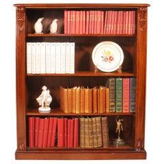 19th Century Mahogany Open Bookcase from England
