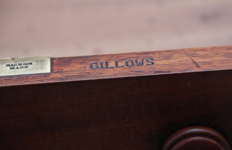 19th Century Mahogany Partners Desk Stamped Gillows For Sale 4