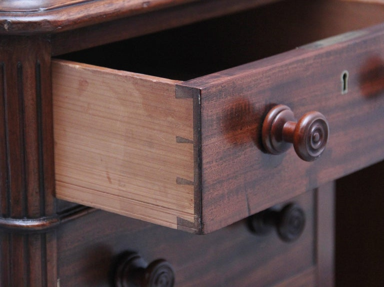 19th Century Mahogany Partners Desk Stamped Gillows For Sale 6