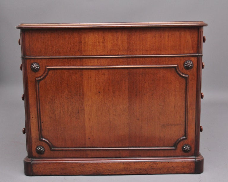 British 19th Century Mahogany Partners Desk Stamped Gillows For Sale