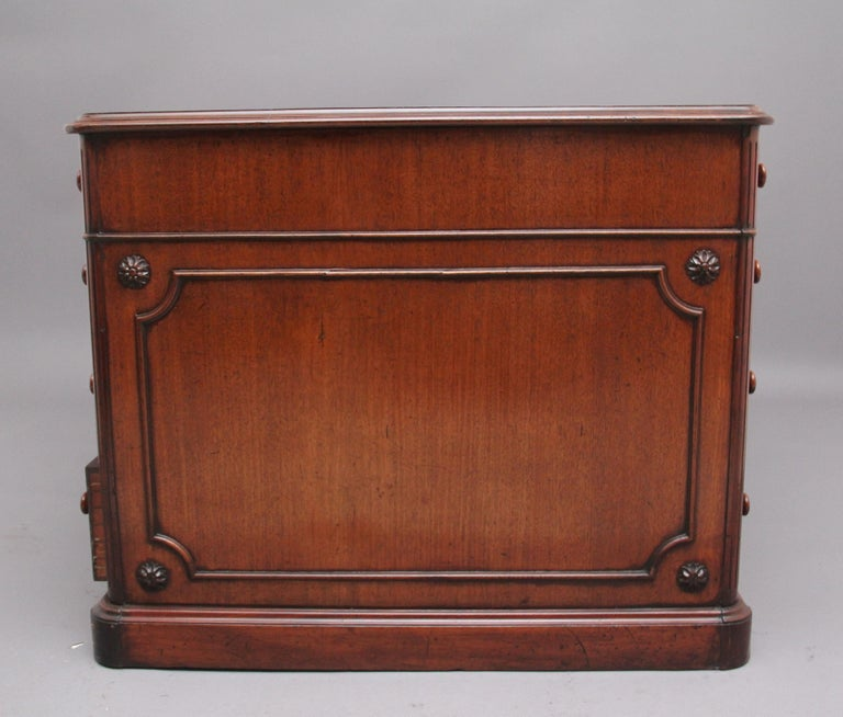 19th Century Mahogany Partners Desk Stamped Gillows For Sale 1