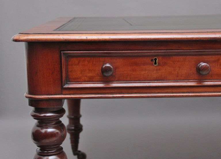 19th Century Mahogany Partners Writing Table For Sale 4