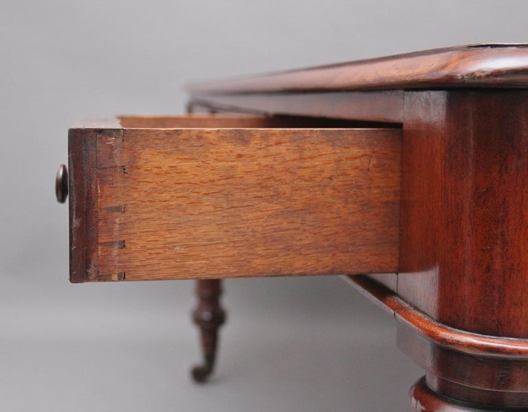 19th Century Mahogany Partners Writing Table For Sale 7