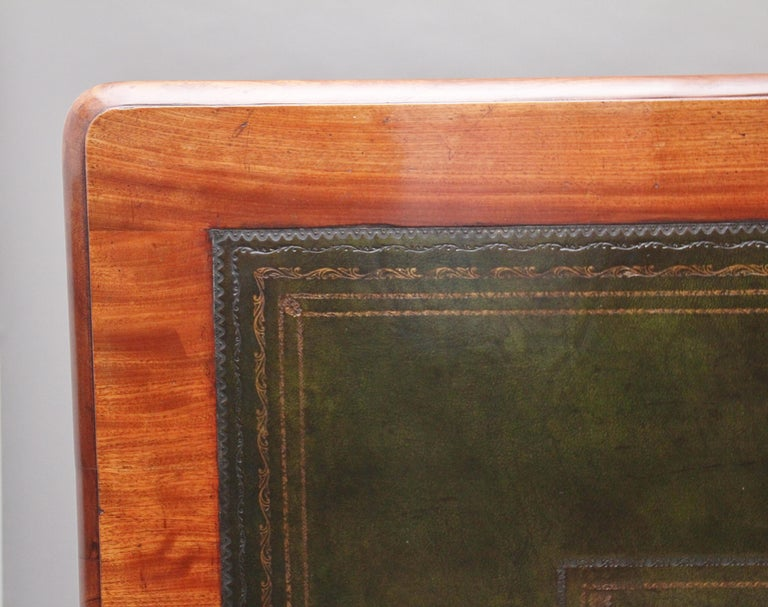 19th Century Mahogany Partners Writing Table For Sale 3