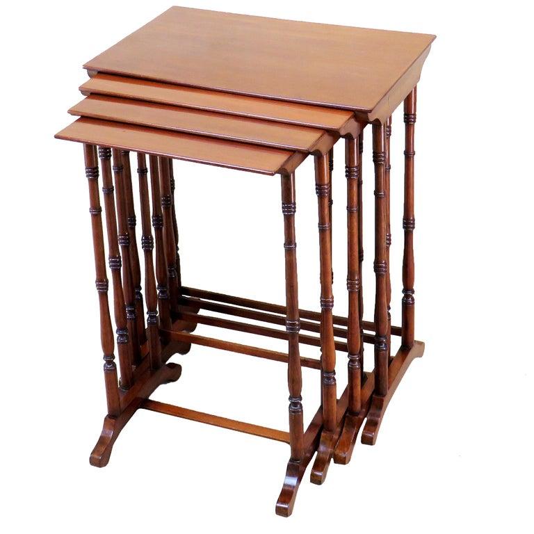 19th Century Mahogany Quartetto Nest of Four Coffee Tables
