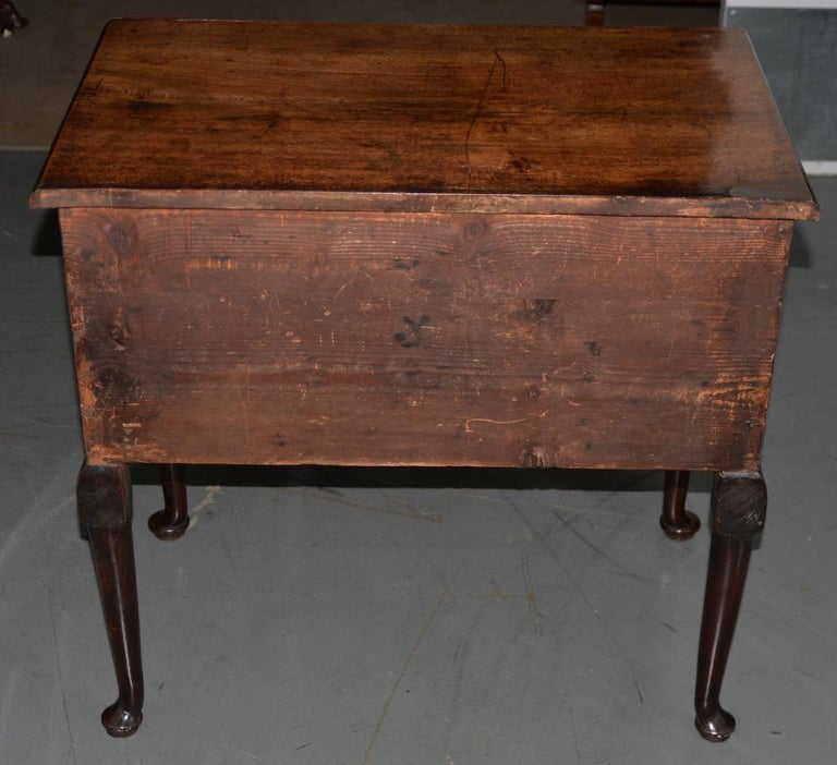 19th Century Mahogany Queen Anne Lowboy In Good Condition For Sale In San Francisco, CA