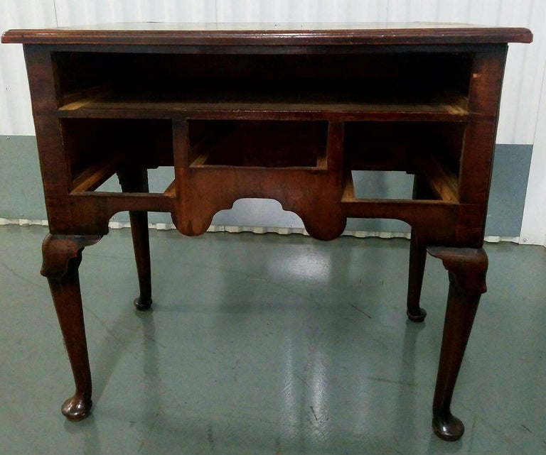 19th Century Mahogany Queen Anne Lowboy For Sale 1