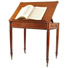 19th Century Mahogany Reading and Writing Table