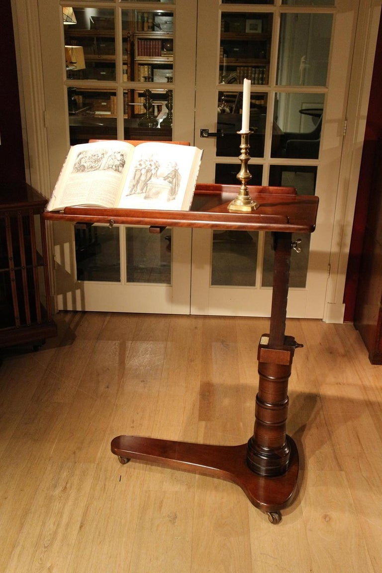 19th Century Mahogany Reading Table / Bed Stand 5