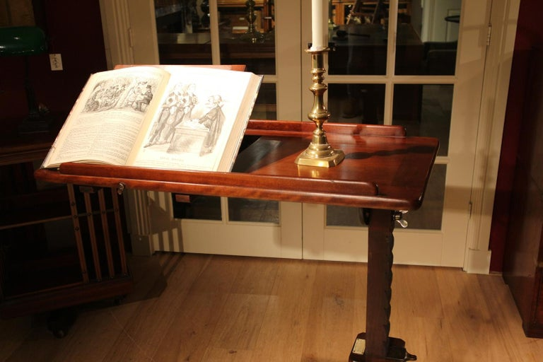 19th Century Mahogany Reading Table / Bed Stand 6