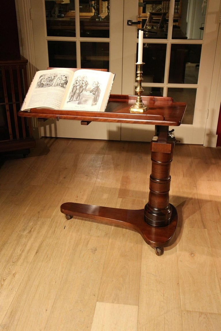 19th Century Mahogany Reading Table / Bed Stand 7