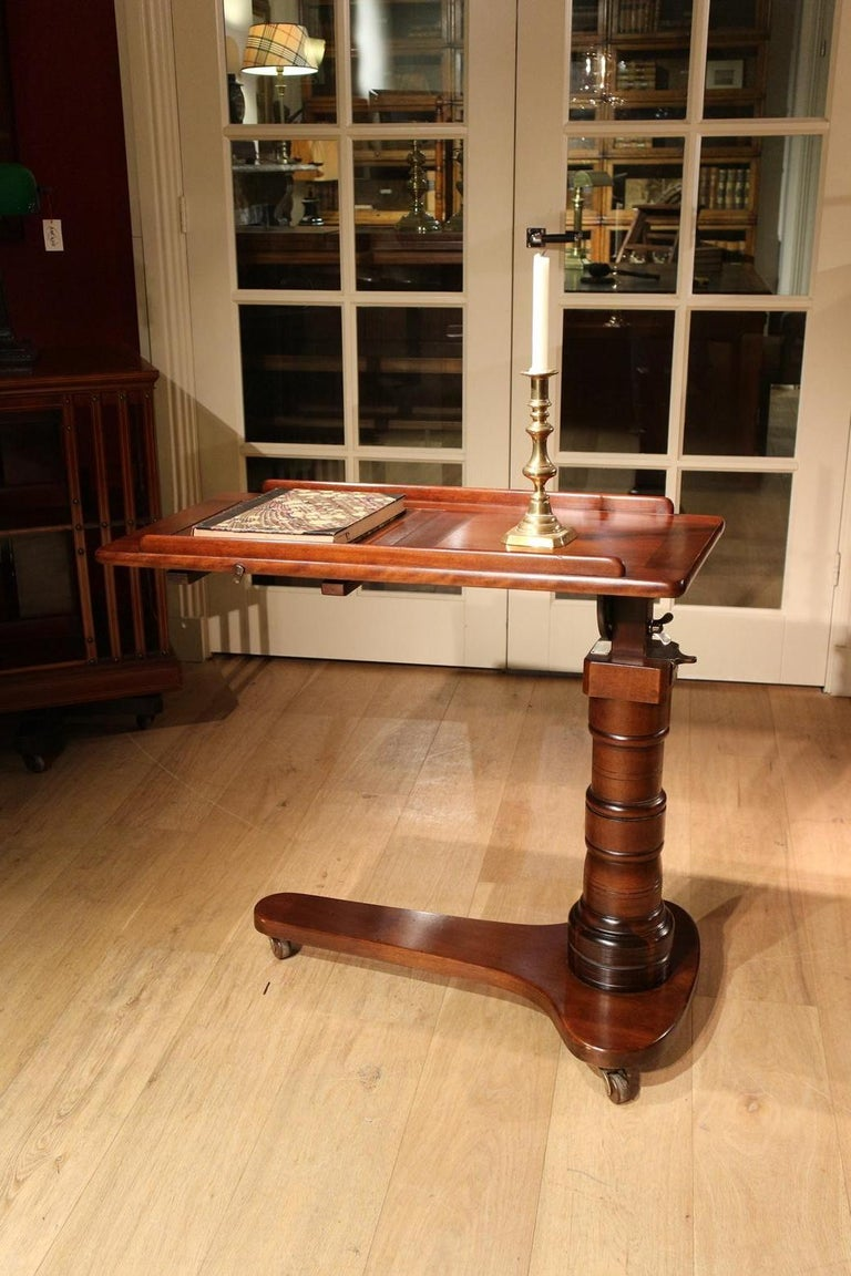 19th Century Mahogany Reading Table / Bed Stand 10