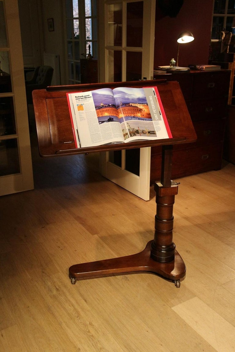 19th Century Mahogany Reading Table / Bed Stand 2
